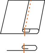 Как сделать шов подгибку с закрытым срезом