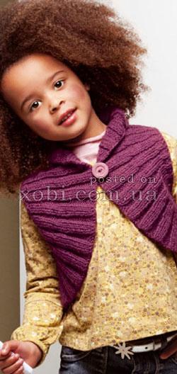 как связать болеро для девочки, вязаное болеро, схема вязания болеро, Хьюго Пьюго рукоделие вязаное болеро,