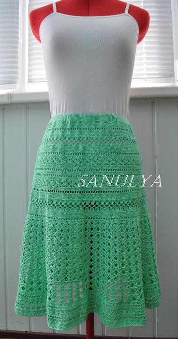 Летняя пышная юбка крючком
