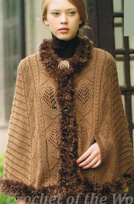 Вязание i для женщин пончо и накидки