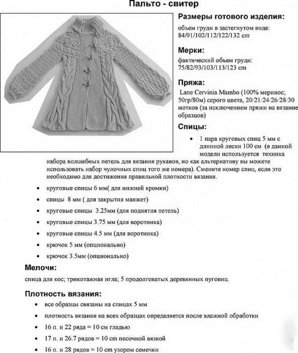 Схема вязания спицами кардигана для девочки 1-2 года 27