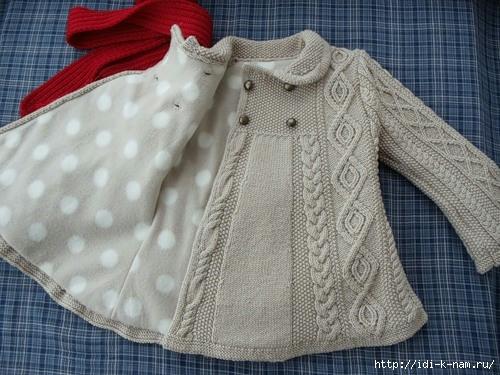 как связать пальто для девочки, схема вязания пальто для девочки, фото мастер класс по вязанию пальто для девочки, Хьюго Пьюго рукоделие.