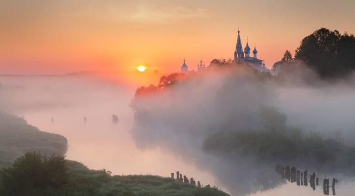 Рассвет в Дунилово, Ивановская область. Автор фото Сергей Ершов (900x587, 140Kb)