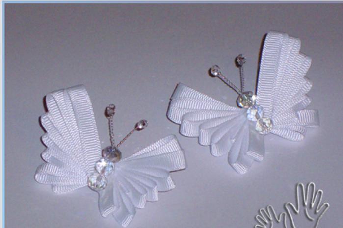 Бабочки из лент своими руками мастер класс видео бабочки