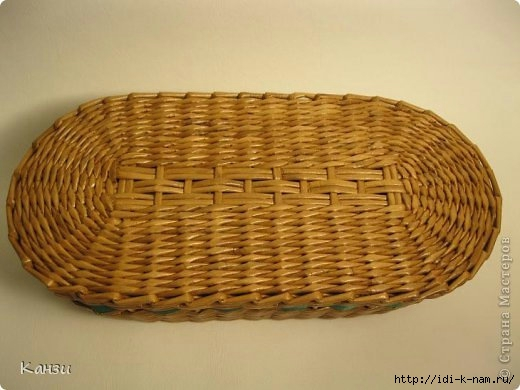 как сплести овальное дно для корзинки из газет, мастер класс по плетению овального дня для корзинки из газет, Хьюго Пьюго рукоделие,  http://idi-k-nam.ru/,