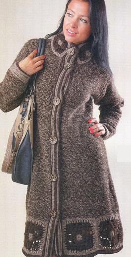 Пальто вязаные своими руками