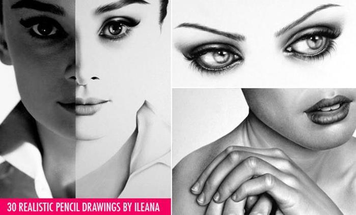 Илеана Хантер: Реалистичные карандашные рисунки