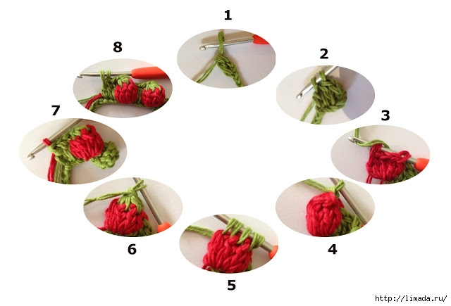 step by step strawberry crochet (640x435, 95Kb)