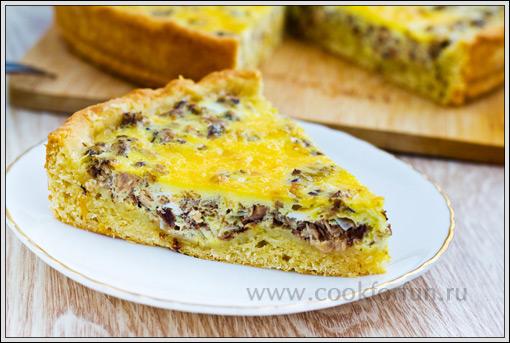 Рецепт: Пирог с рыбными консервами - Готовим дома