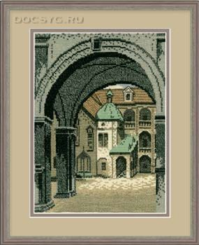 Вышивка крестом схемы старинный город