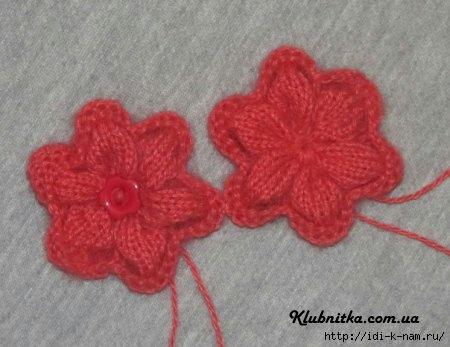 как связать цветок спицами, вяжем цветок спицами, как связать цветок на спицах, схема вязания цветка спицами, Хьюго Пьюго рукоделие,