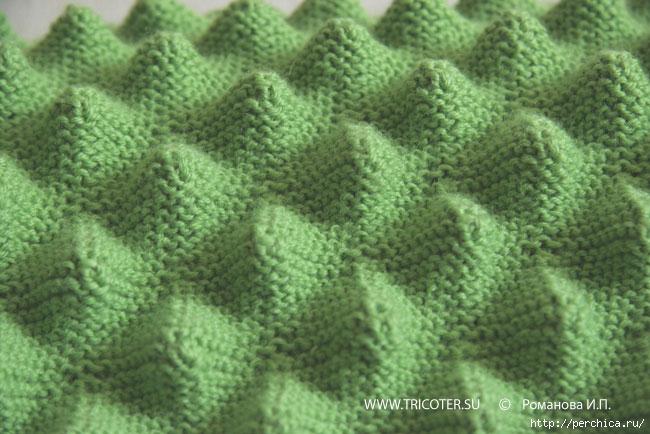 Вязание спицами затейливый зигзаг