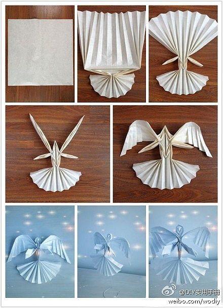 Ангелочек оригами своими руками