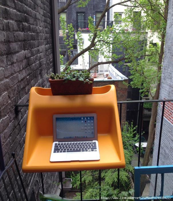 Навесной столик на балконе.. обсуждение на liveinternet - ро.