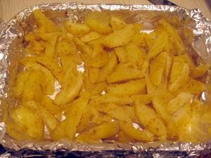 Запеченный картофель с лимонным вкусом