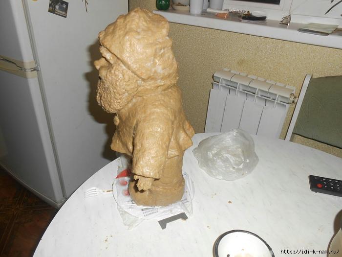 как сделать гномика для дачи, как сделать дачного гномика, поделки для дачи своими руками, Хьюго Пьюго рукоделие,