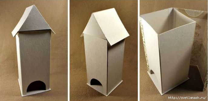 Домик для чайных пакетиков своими руками из картона
