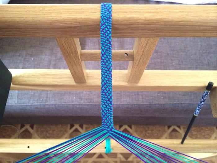 Плетение из верёвок на станке
