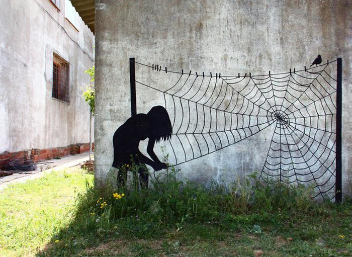 Уличные картины испанского художника Pejac