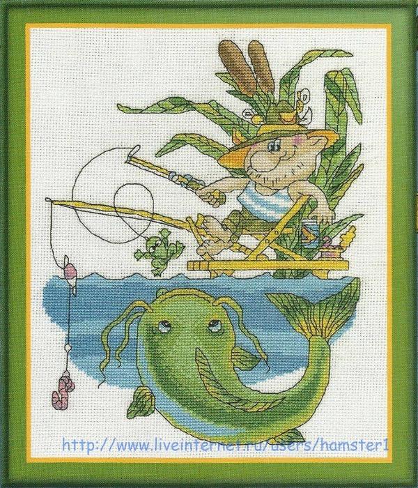 На рыбалке схема вышивки 22