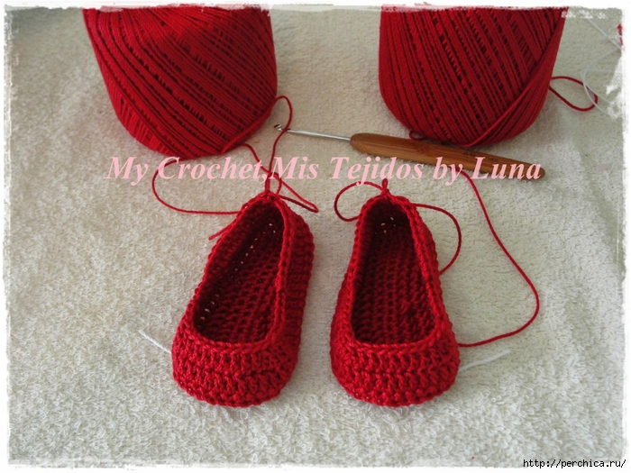 My Crochet,Mis Tejidos by Luna-8-10-14 Red Baby booties 002 (700x525, 327Kb)