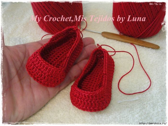 My Crochet,Mis Tejidos by Luna-8-10-14 Red Baby booties 004 (700x525, 294Kb)