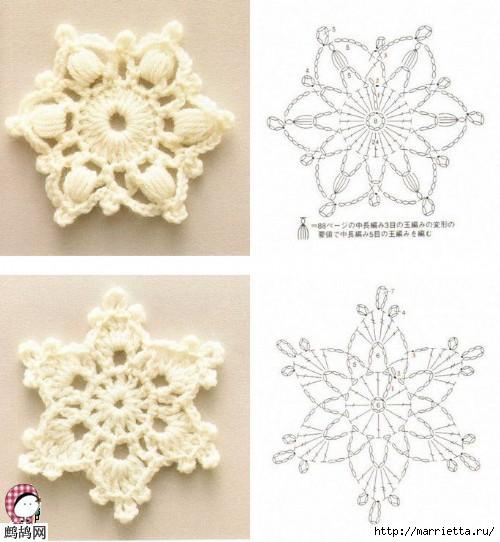 Снежинки крючком. Схемы (4)