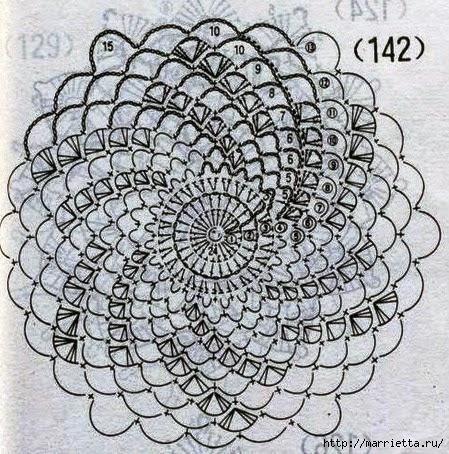 Летняя вязаная туника крючком (3) (449x454, 225Kb)