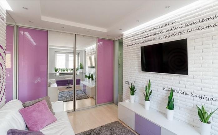 Советы по оформлению малогабаритных квартир. Как обустроить 20-метровую квартиру (2) (700x433, 237Kb)