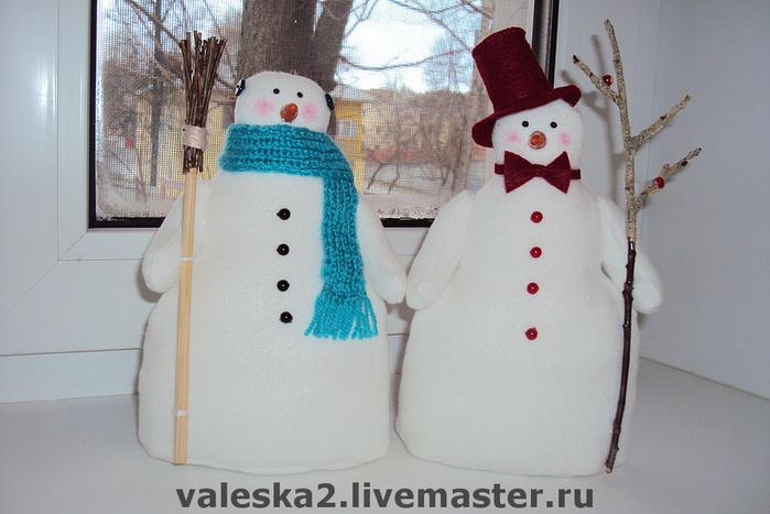 Объемный большой снеговик своими руками 187