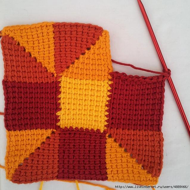 Тунисский крючок вязание