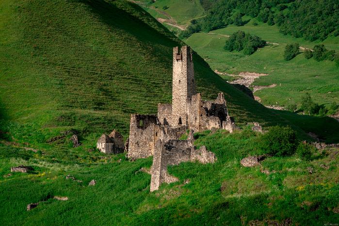Всего тут было 23 башни, включая 3 боевых, 20 жилых, 12 склеповых могильников и 1 мавзолей (700x466, 605Kb)