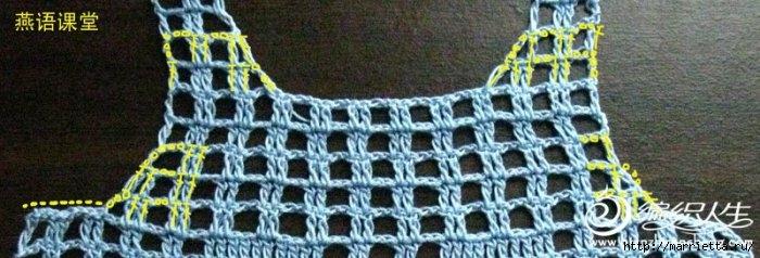 вязание крючком. детский жилет с мишкой (4) (700x238, 143Kb)