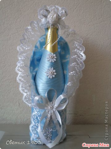 Бутылка шампанского своими руками на рождение ребенка