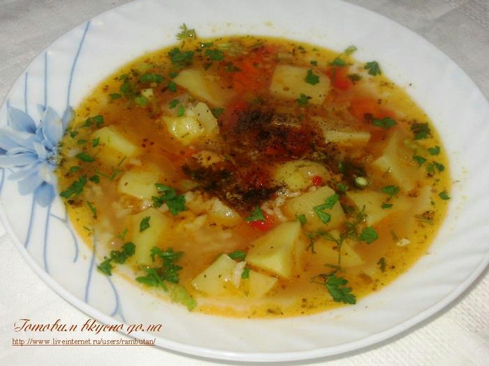 суп с кукурузой и цветной капустой