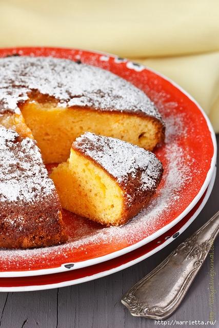 Рецепт к чаю. Золотой апельсиново-творожный пирог (2) (427x640, 263Kb)