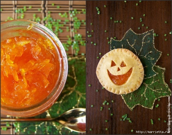 Тыквенный джем и печенье к Хэллоуину (1) (600x472, 217Kb)