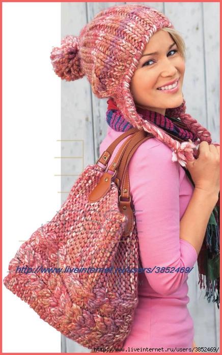 Объёмная шапка и сумка (436x700, 218Kb)