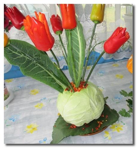 Поделки из кабачков и капусты 28