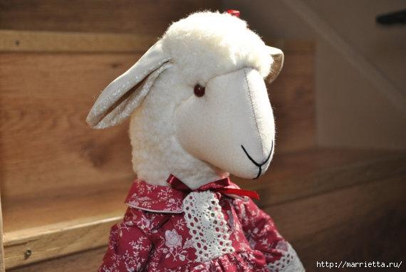 текстильные овцы, ежик, коза и медведи (3) (570x382, 107Kb)