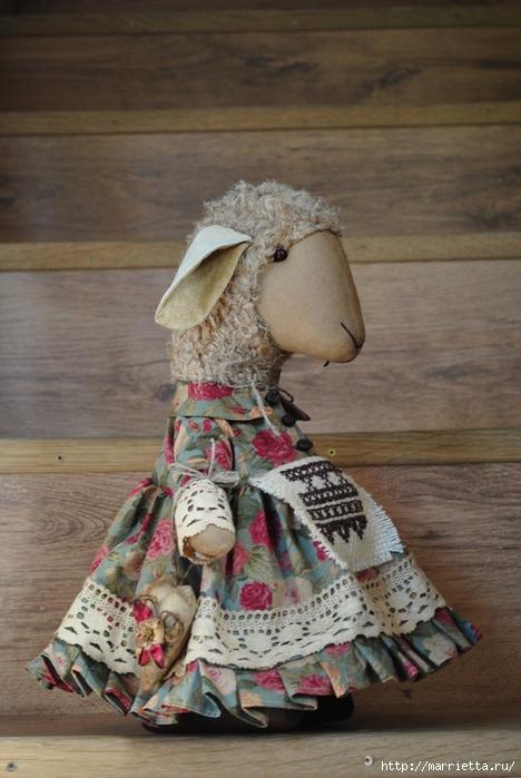текстильные овцы, ежик, коза и медведи (5) (468x700, 243Kb)