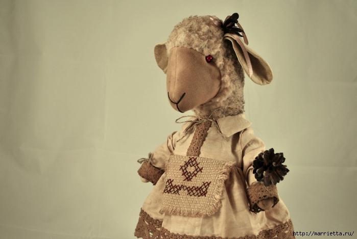 текстильные овцы, ежик, коза и медведи (15) (700x469, 180Kb)