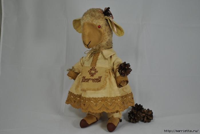 текстильные овцы, ежик, коза и медведи (17) (700x469, 147Kb)