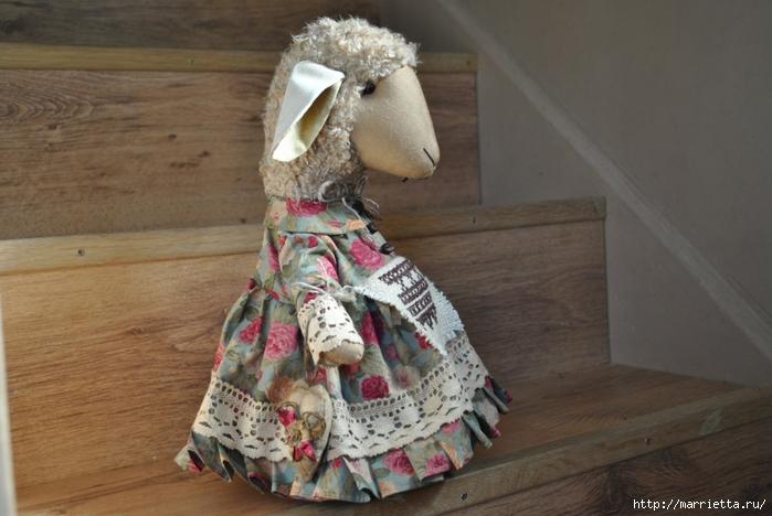 текстильные овцы, ежик, коза и медведи (37) (700x468, 235Kb)
