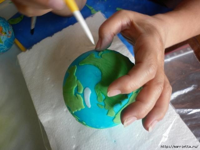 УЧЕНАЯ СОВА из марципана для детского торта. Фото мастер-класс (15) (640x480, 114Kb)