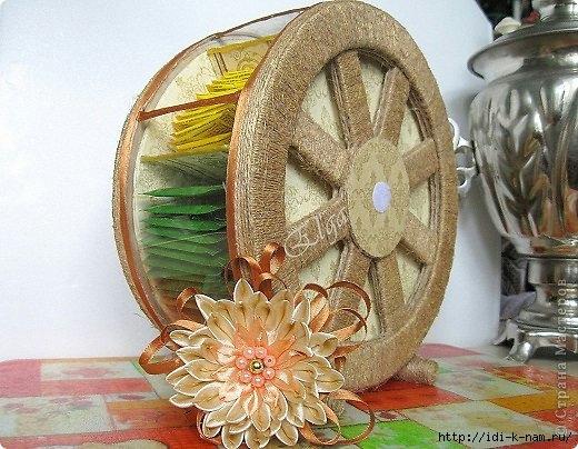 как сделать чайное колесо, как хранить чайные пакетики, Хьюго Пьюго рукоделие,