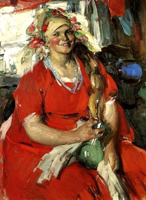 Абрам-Ефимович-Архипов-1862-–-1930-Женщина-в-красном (513x700, 470Kb)