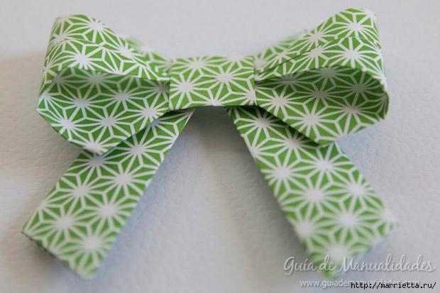 Как сложить красивый бант из бумаги в технике оригами (1) (620x413, 152Kb)
