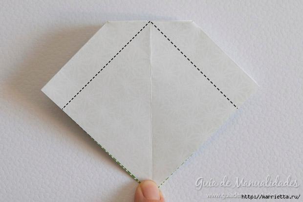 Как сложить красивый бант из бумаги в технике оригами (9) (620x413, 109Kb)