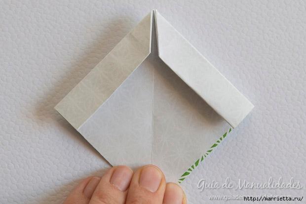 Как сложить красивый бант из бумаги в технике оригами (11) (620x413, 118Kb)